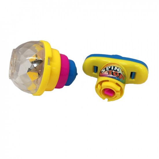 Whirligig toy with  backlight and clockwork cable