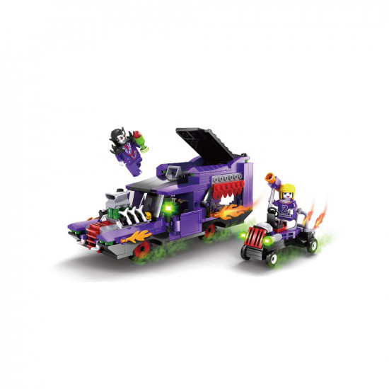 The constructor is a fantastic machine . Mini-car and 2 characters 370 parts