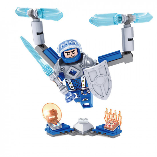 Robot Constructor with Shield, Sword and Ice bombs 76 parts