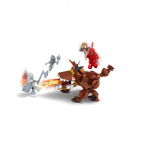 Monster Dog constructor and 3 robots with weapons 195 parts