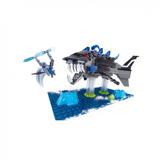 Monster Shark Constructor and robot with weapons 276 parts