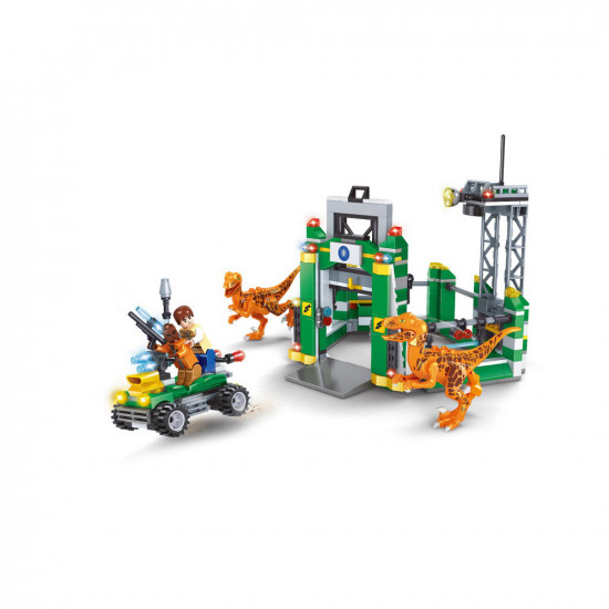Constructor power station, 2 dragons and soldiers on a jeep 440 parts