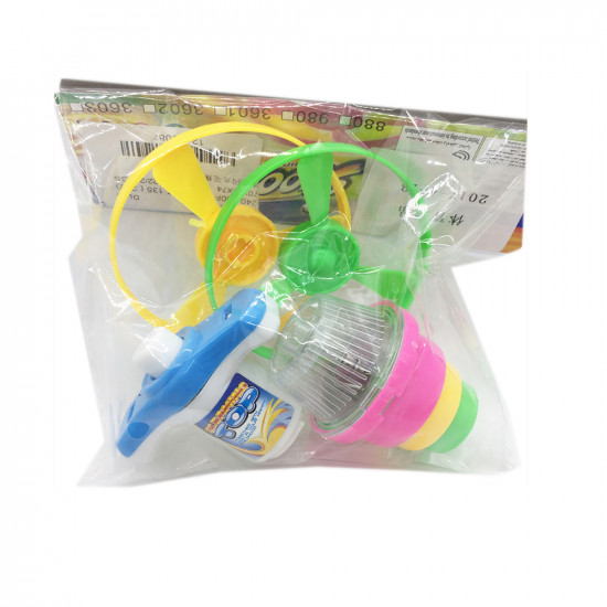 Whirligig toy with flying plate (with backlight)